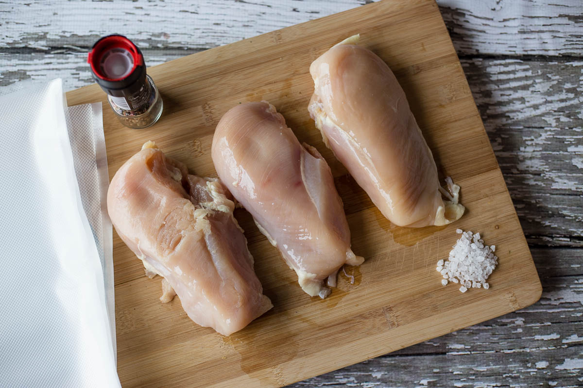 Buy chicken breast in bulk and vacuum seal to reduce food waste